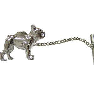 Silver Toned Pug Dog Tie Tack